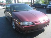 Options Included: N/A2003 CHEV MONTE CARLO 2DR