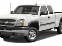 Clean CARFAX. White 2003 Chevrolet Silverado 2500HD LT
