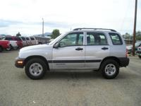 Options Included: N/A2003 Chevy Tracker 4X4 with low