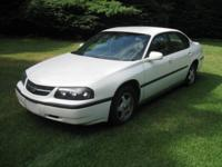 2003 CHEVY IMPALA. White Outside, Gray Inside, 134,000