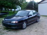 2003 CHEVY IMPALA - BLACK WITH HEATED GRAY LEATHER
