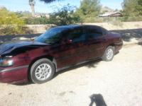 2003 chevy impala red color Ac works properly Power