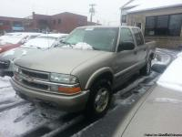 2003 TAN CHEVY S10 PICK-UP TRUCK, 4 WHEEL DRIVE, CREW