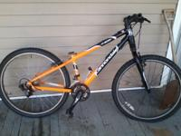 Has all Shimano Deore brake and shifting components,