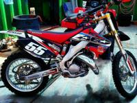 2003 cr125r 2 stroke dirt bike, professionally rebuilt