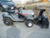 2003 Craftsman LT2000 riding mower with 42 inch snow