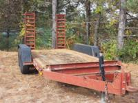 2003 Ditch Witch T9B 5.5 Ton Equipment Trailer Spring