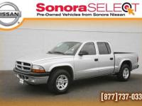 2003 DODGE DAKOTA SPORT, 4.7L V8, RWD. BRIGHT SILVER