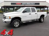 From city streets to mud, this White 2003 Dodge Ram