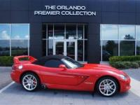 2003 Dodge Viper SRT-10 Red Black Top Rear Spolier Rare