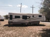 Offering a 2003 DRV Mobil Suite doubletree 5th wheel.