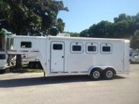 2003 Exiss 3 horse slant load with a tack room that has