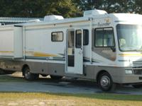 This motorhome is a 36' Class A Recreational Vehicle