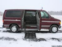 This is a beautiful 2003 Ford E-350 Handicap Van.