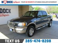 Blue 2003 Ford F-150 King Ranch 4WD 4-Speed Automatic
