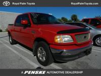 In Good Shape, CARFAX 1-Owner. XLT trim, Bright Red
