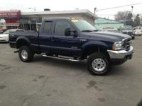 2003 blue Ford F-350 Super Duty Lariat 4dr SuperCab 4WD