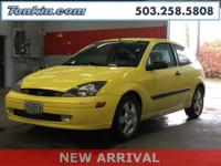 2003 Ford Focus ZX3 2.0L I4 16V  Clean CARFAX. KBB Fair