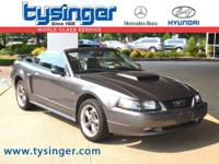 Dark Shadow Gray Mustang GT RWD Convertible, with an