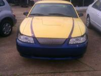 Up for sale is a Yellow/Blue Ford Mustang V6. *** This