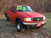 Winter is here! Get a 4x4! 2003 Ford Ranger FX4 Level 2