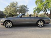 This 2003 Ford Thunderbird Deluxe convertible has RARE