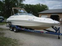 I have a 2003 Glastron DX235 Deck Boat. 23'. 5.7 L