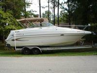 New V8 Volvo Penta 5.7L 260 hp with 80 hours, duo-prop