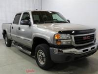2003 GMC Sierra 2500HD Silver 4X4, DVD Player, Tow