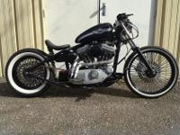 Harley Davidson 100th hardtail bobber. This is the year