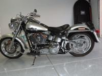 2003 Anniversary Fatboy, Black and silver, custom