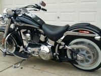2003 Harley Davidson Fatboy black in color. It is in