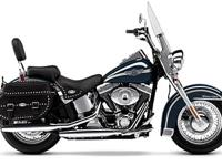 The Heritage Softail Classic under its spectacular