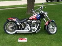 2003 THUNDER MOUNTAIN CUSTOM HARLEY. BOUGHT NEW IN