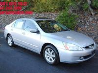Options:  2003 Honda Accord Ex V 6 4Dr
