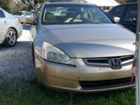 Description Make: Honda Model: Accord Year: 2003 VIN