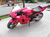 For sale 2003 Honda CBR 600RR Hot Pink Motorcycle Has
