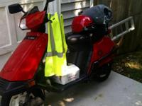 80CC ENGOINE, RED,COMES WITH HELMET, COVER, OWNER