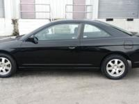 2003 Honda Civic with only 98K mi. Black 2-dr