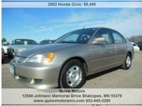 2003 Honda Civic Hybrid. Automatic Transmission. Carfax