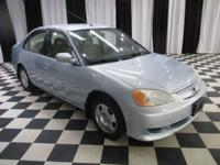 OVERVIEW This 2003 Honda Civic 4dr 4dr Sedan Hybrid CVT