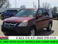 Aluminum/Alloy Wheels, Clean Carfax, and Local Trade.
