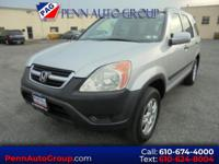 Clean CARFAX. Silver 2003 Honda CR-V EX AWD 4-Speed