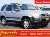 Clean CARFAX. This 2003 Honda CR-V EX in Satin Silver