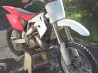 This 2003 cr250r is in actually good shape. Nothing is