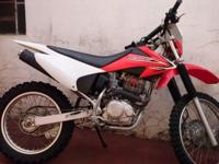 2003 Honda CRF230 gunk bike. Adult path ridden however
