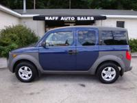 Options Included: N/A2003 Honda Element EX 4WD - Clean