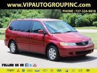 Examine our great offer! 2003 red Honda Odyssey for