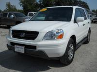 Options Included: N/A2003 Honda Pilot EX-L 4x4 White,