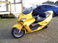2003 Honda Reflex Scooter. Clipper yellow, Interior